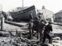Boat Building Porthleven 1960