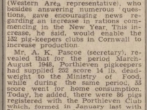Porthleven Pig Club 1949