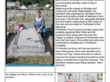 First World War Centenary of start - POrthleven graves cleaned up