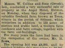 Treza Farm sold 1927